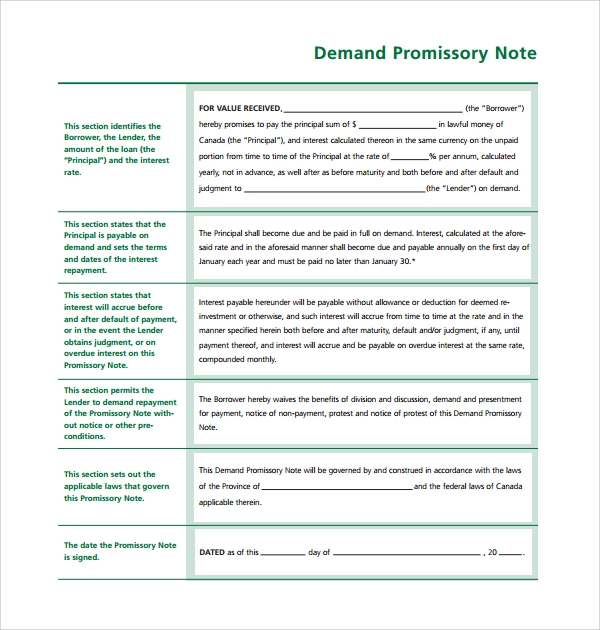Doc400518 Draft of Promissory Note Promissory Note Template – Demand Promissory Note Sample