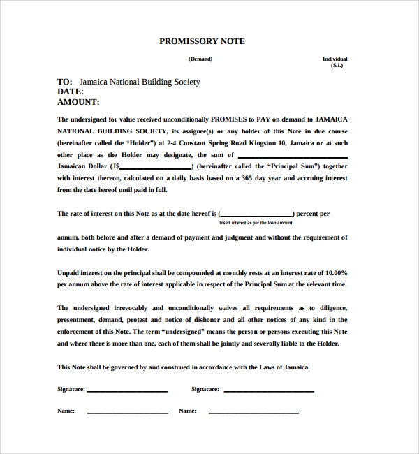 Promissory Notes 2 History Of Promissory Note Promissory Note