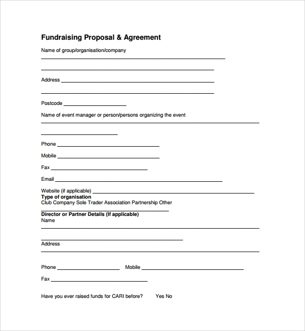 Attractive Simple Fundraising Proposal Template On Fundraising Proposal Template
