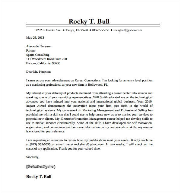 Marketing Cover Letter. Sales Cover Letter Template Free Word Pdf ...