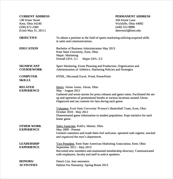 event planning cover letter resume