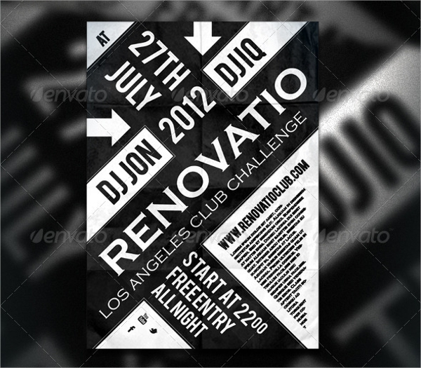 Typography Flyer Template - 15+ Download In Vector Eps, Psd