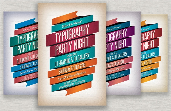 typography flyer design template
