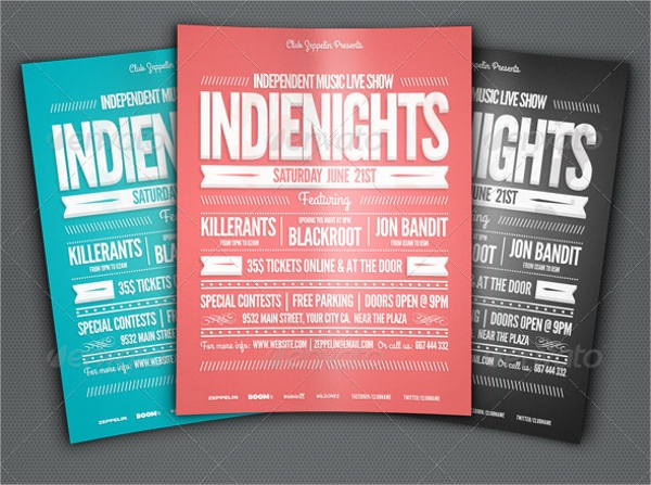 indie typography flyer template