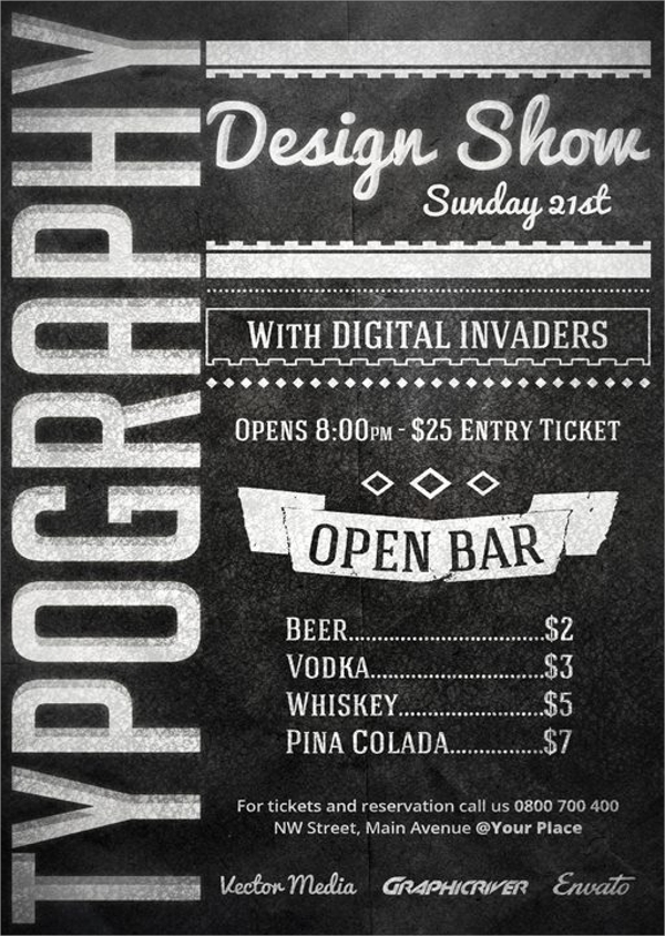 typography flyer template