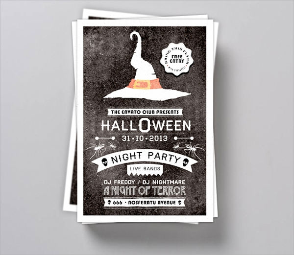 simple typography flyer