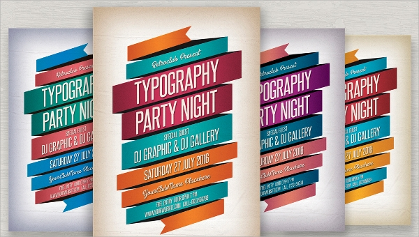 16 Typography Flyer Templates Sample Templates