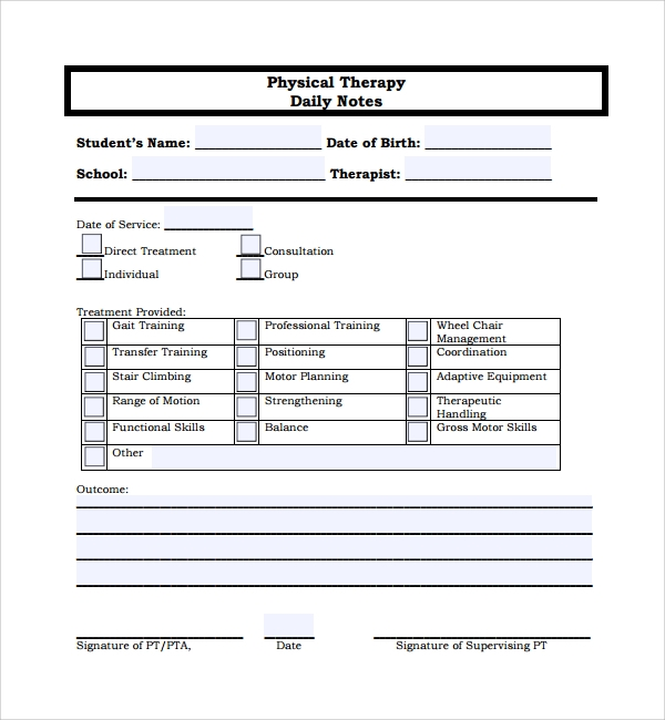 sample daily note template 9 free documents in pdf word
