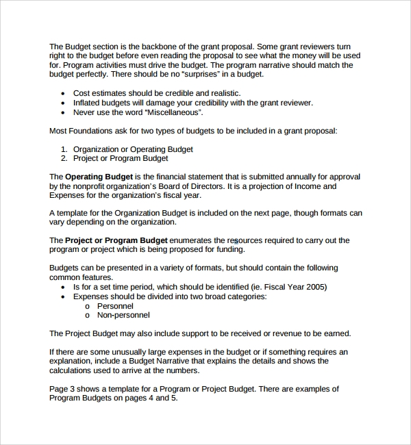 Non Profit Project Proposal Template  Proposal Plan Template