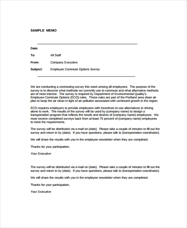 Sample Formal Memo Template   Free Documents Download In Word Pdf