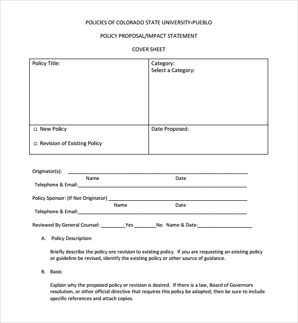 sample policy proposal template 9 free documents in pdf