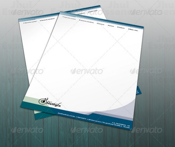 photoshop company latterhead template