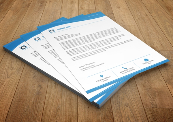 company letterhead pdf format