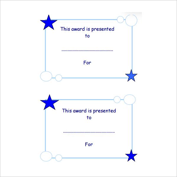 merit certicate for children
