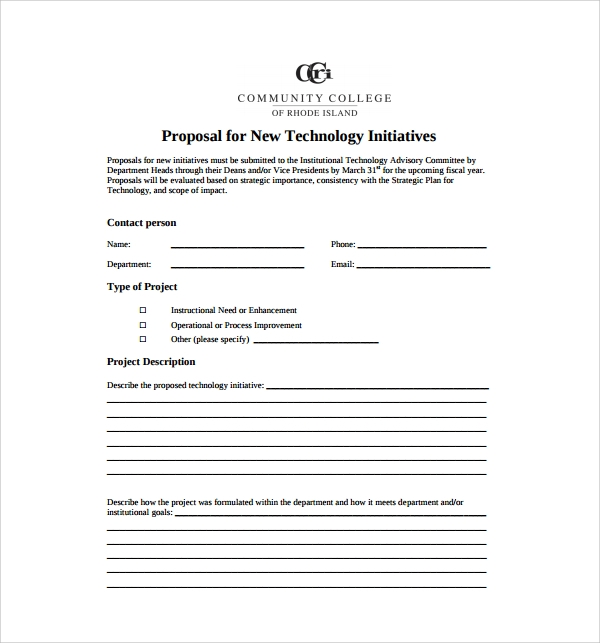 Sample Technology Proposal Template   Free Documents In Pdf