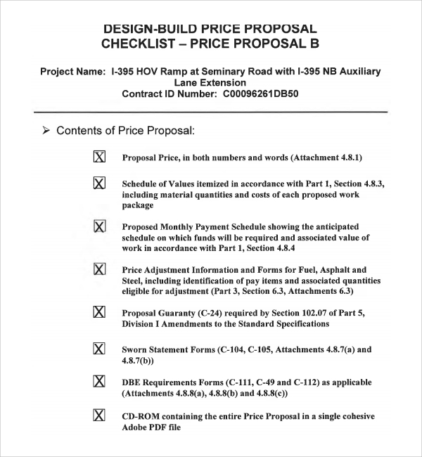 Sample Price Proposal Template   Free Documents In Pdf Word