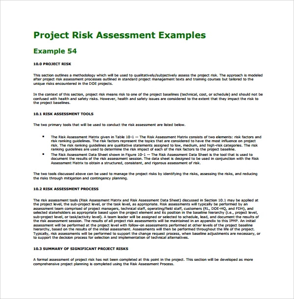 Sample Project Assessment Template 9 Free Documents in PDF Word – Network Assessment Template