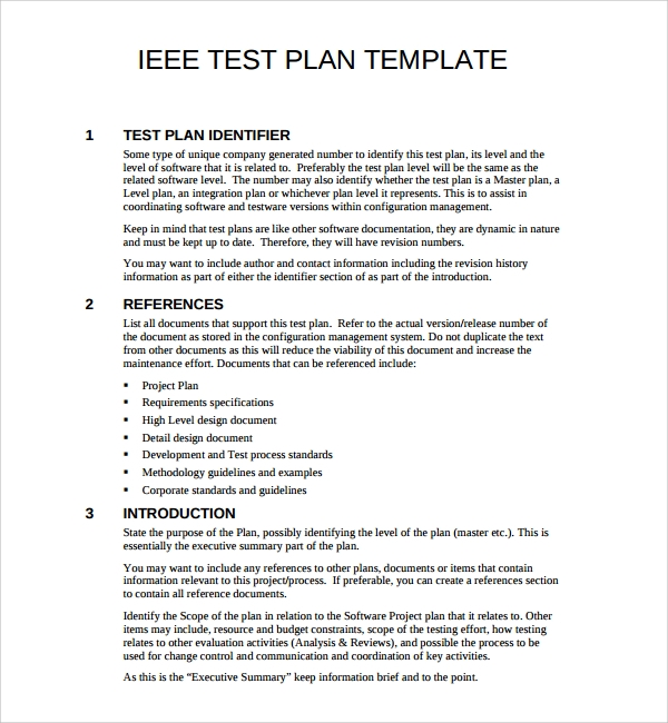 Sample Software Test Plan Template   Free Documents In Pdf