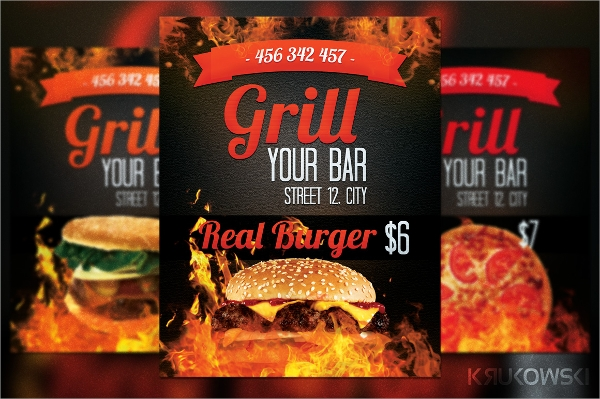 Bar Flyer Template 19 Download In Vector EPS PSD – Bar Flyer Template