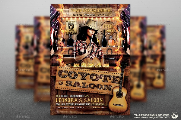 coyote bar flyer