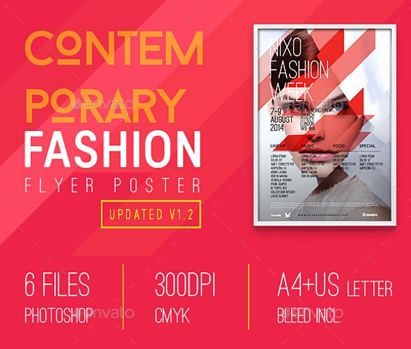 fashion contemporary flyer