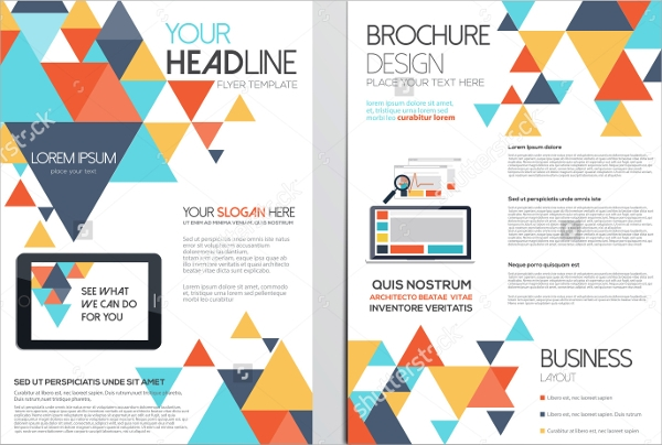 vector geometric flyer template