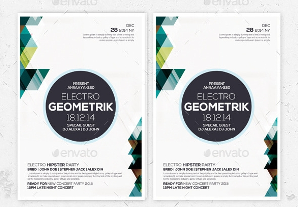psd geometric flyer