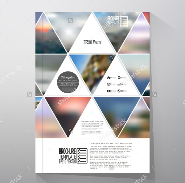 abstract geometric flyer template