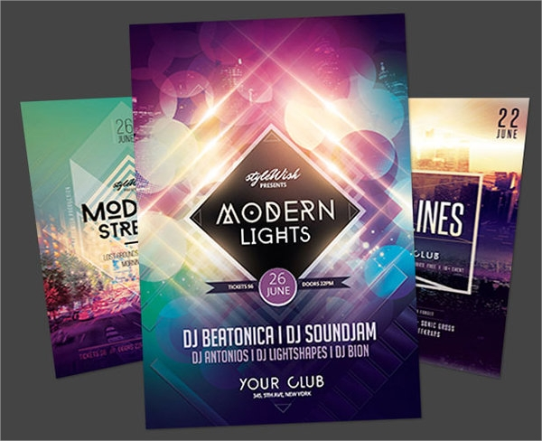 simple geometric flyer template