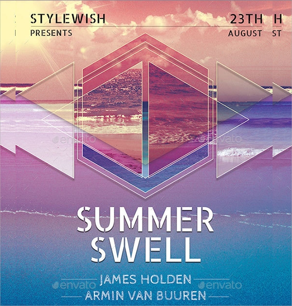 layered geometric flyer template