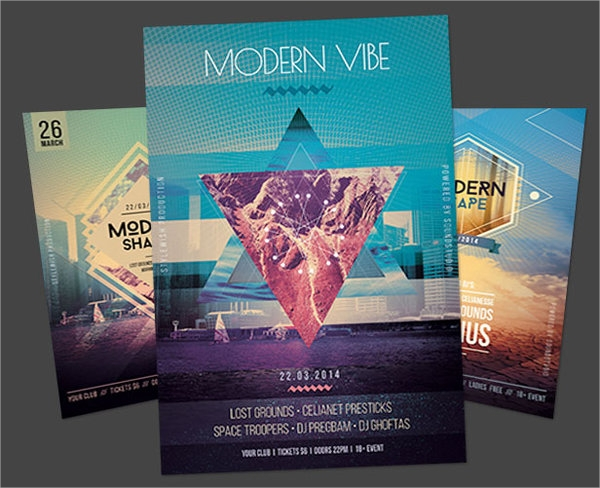 amazing geometric flyer template