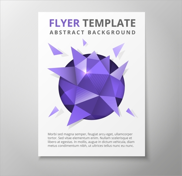 geometric triangular flyer template