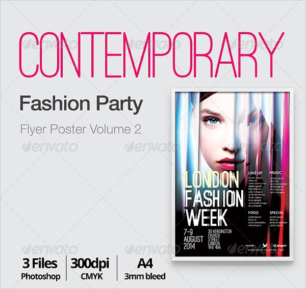photoshop psd contemporary flyer