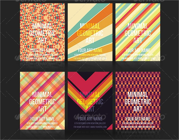 awesome geometric flyer template