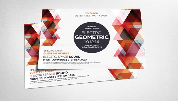 Geometric Flyer Template | Geometric Flyer Template 20 Download In Vector Eps Psd