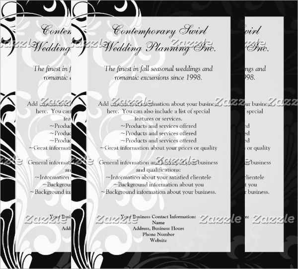 contemporary black and white swirl flyer
