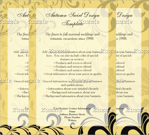 yellow and black contemporary swirl flyer