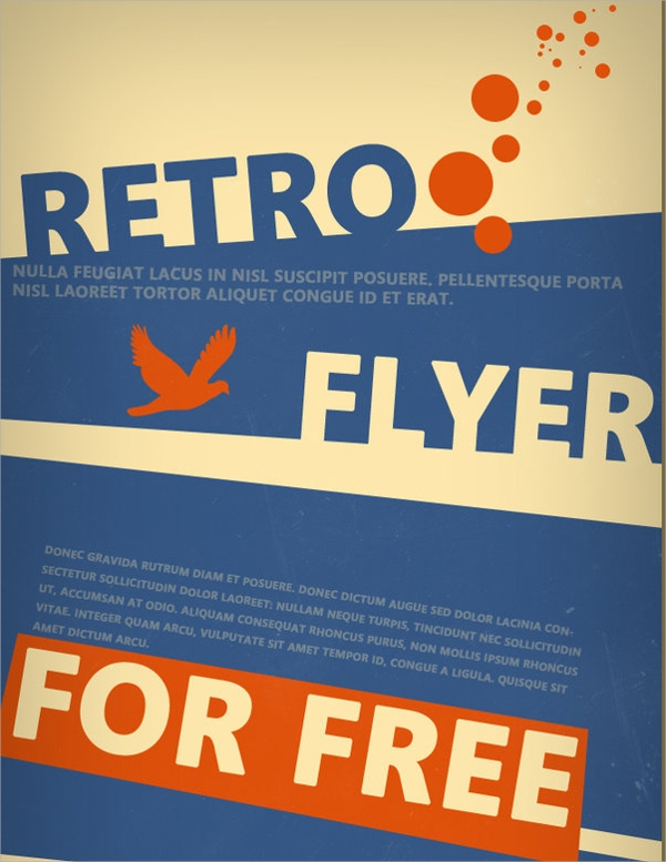 psd retro flyer template