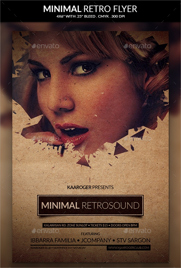 minimal retro flyer template