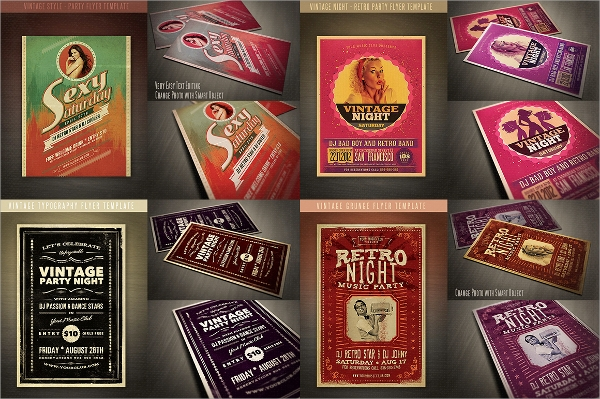 jumbo retro flyer template