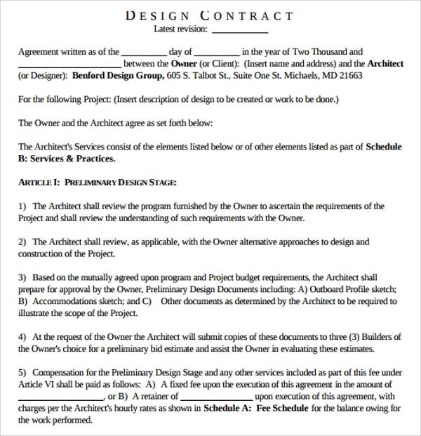 Interior Design Proposal Contract Template