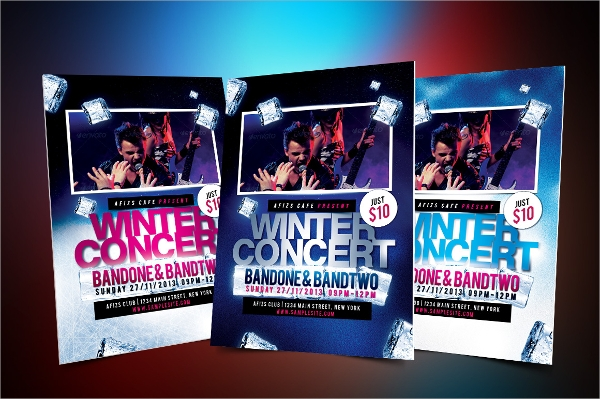 winter music flyer