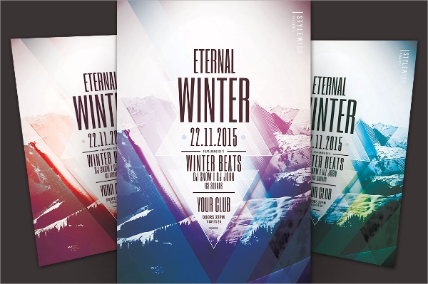 eternal winter flyer template