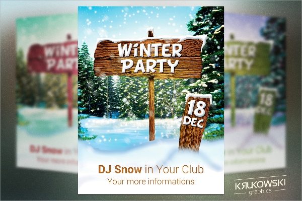 psd file format winter flyer template
