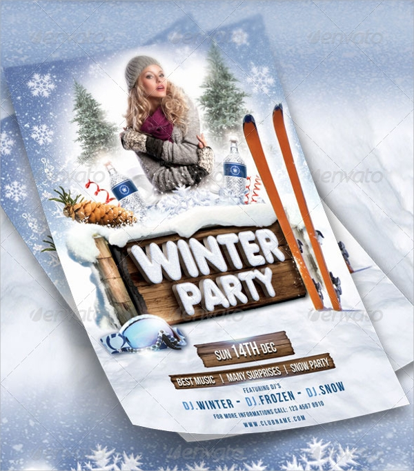photoshop psd winter flyer template