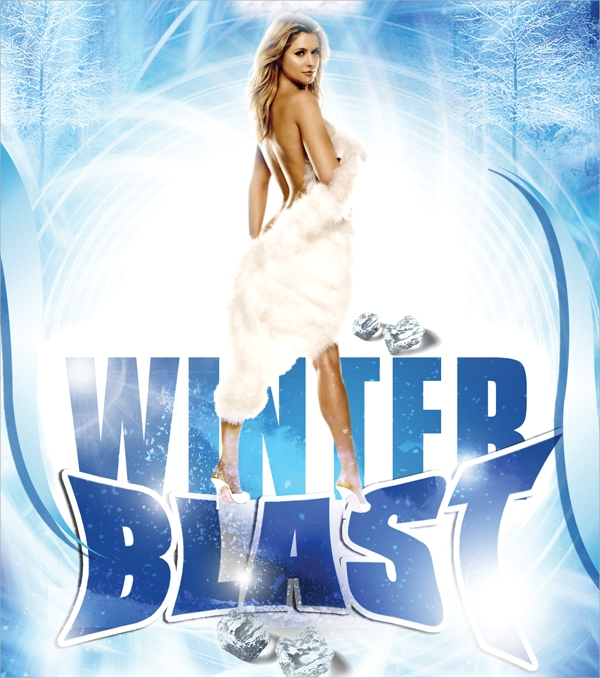 winter blast music flyer template