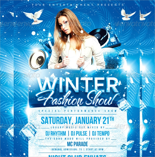 beautiful winter flyer template