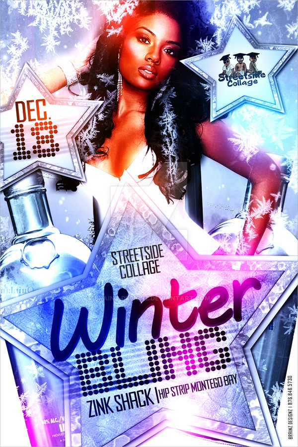 winter bling flyer template