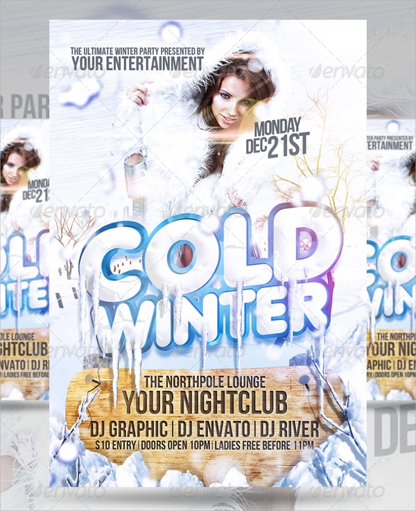 fantastic winter flyer template