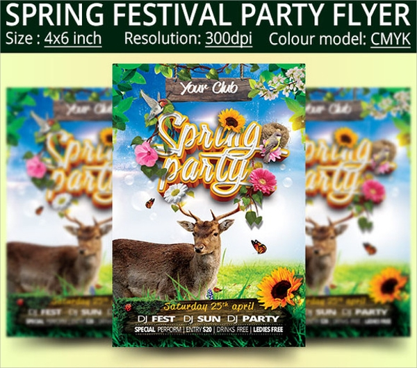spring festival party flyer